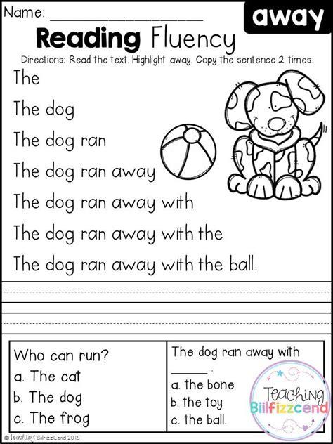 kindergarten activities reading free kindergarten reading fluency and comprehension set 1