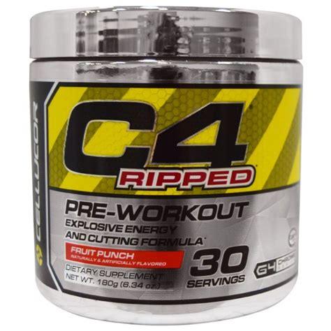 Pre Workout Cellucor C4 Ripped Preworkout Pre Wo 30 Serving cellucor c4 ripped pre workout fruit punch 6 34 oz 180 g na bazarek pl