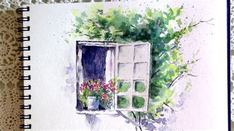 Fenster Bemalen Mit Wasserfarbe by Line And Wash Watercolor Painting 8 Vlog 16
