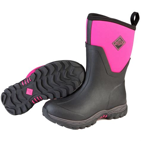 womans rubber boots s muck arctic sport ii mid waterproof insulated