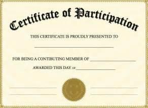 Free printable participation certificates templates