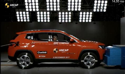 jeep made india made jeep compass secures five in ancap crash test