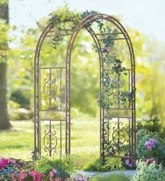 Metal Trellis For Sale Burnished Bronze Finished Iron Montebello Garden Arbor