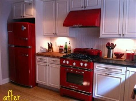 red appliances for kitchen big chill appliances and home on pinterest