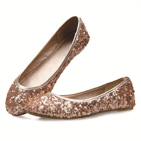 sequin flat shoes 2015 new luxury glitter s flat shoes fashion