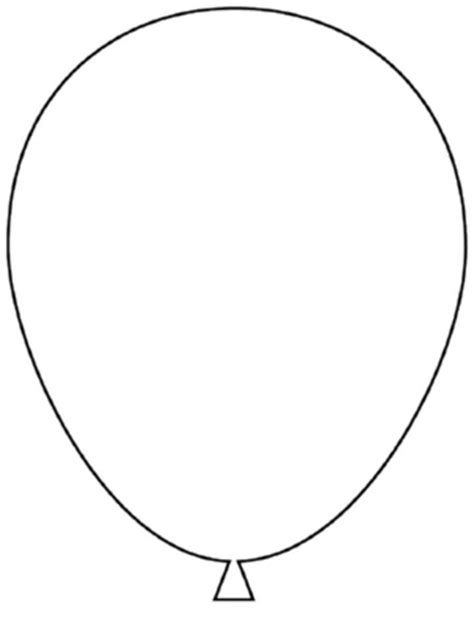 printable balloon shapes a balloon a common shape to learn to draw