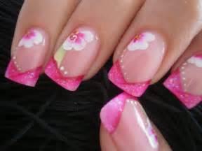 lo ultimo en decoracion en uas de los pies lindo dise 241 o de u 241 as rosa con glitter cute glitter pink