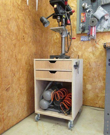 rolling drill press stand home improvement