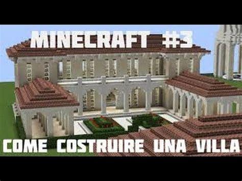 minecraft come costruire villa rustica romana #1 youtube