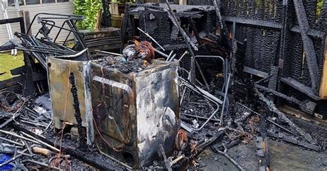 Tumble Dryer In Shed by Faulty Tumble Dryer Bursts Into Flames And Quot Completely