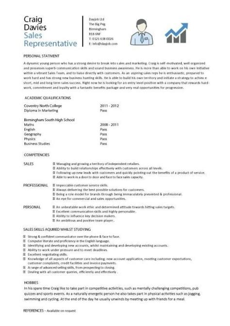 The Best Resume Sles For Students Sales Experience Resume The Best Resume