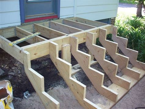 entry landing step wooden stairs deck designs backyard