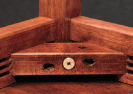 wooden chair corner braces joinery what is the name of the corner joint with