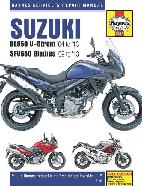 Suzuki Motorcycle Manual Suzuki Dl650 V Strom Sfv650 Gladius 2004 2013 Haynes