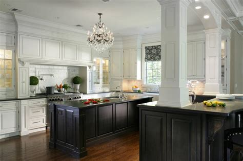 Black And White Kitchen Cabinets Contemporary Kitchen Black And White Kitchen Cabinets