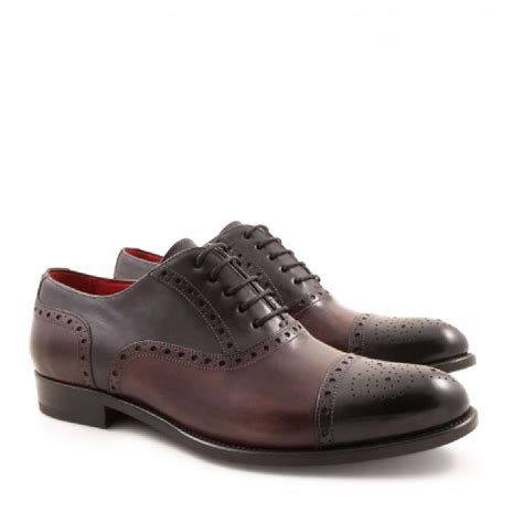 Handcrafted Leather Shoes - handmade s oxford shoes in leather leonardo