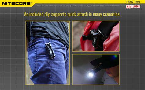 Nitecore Thumb Leo Senter Led Usb Rechargeable 45 Lumens Uv Light 1 nitecore thumb 85lm usb portable multifunction led keychain work light