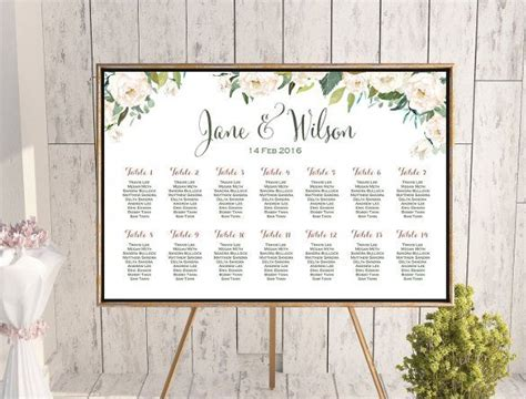 wedding seating chart template excel free wedding seating chart template 16 exles in pdf word