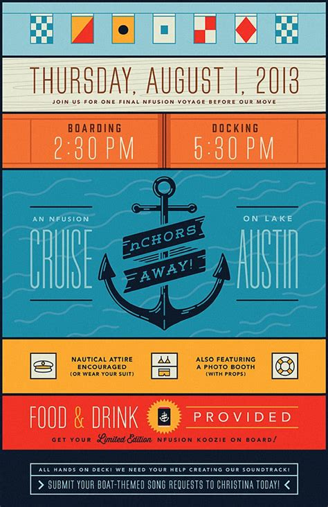 poster layout blog nfusion boat party poster postert layout pinterest