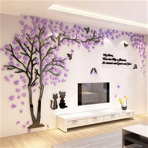 creative couple tree  sticker acrylic stereo wall