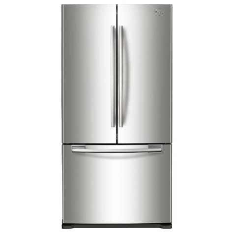 Shop samsung 17 51 cu ft counter depth french door refrigerator with single ice maker stainless