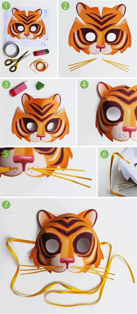 tiger mask animal masks and tigers on pinterest