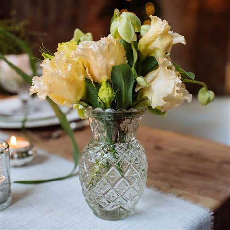 Pineapple Vases by Pressed Glass Pineapple Posy Vase By The Wedding Of