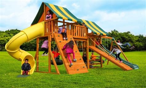 best swing sets for kids fantasy wooden playset b best in backyards