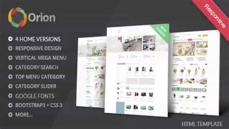 Orion Mega Shop Bootstrap Template Themeforest Website Templates And Themes Youtube Mega Shop Template