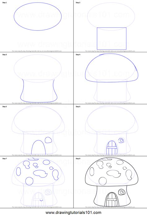 doodle drawing how to how to draw a house printable step by step