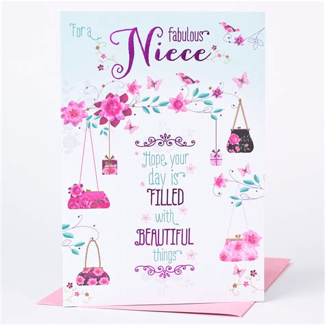 Birthday Cards For Nieces Birthday Card Niece Beautiful Things Only 89p