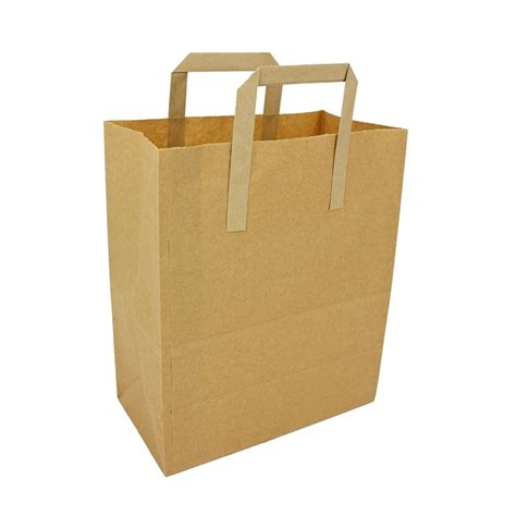 How To Make A Big Paper Bag - brown kraft paper carrier bags large your one stop