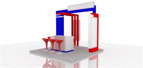 desain kamar 3m x 3m booth pameran 3 x 3m waralaba center