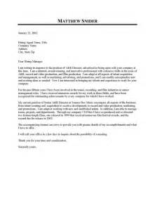 Executive Cover Letter Exles by A R Executive Cover Letter Sle Resume Cover Letter