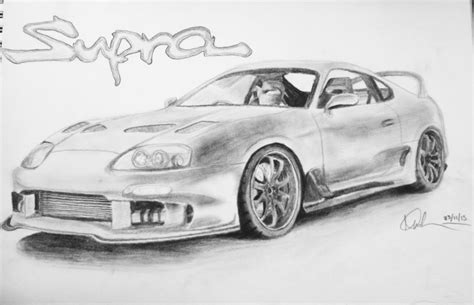 toyota supra drawing my supra drawing