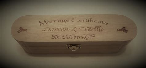 Wedding Certificate Box Uk by Wedding Certificate Box S Kreations