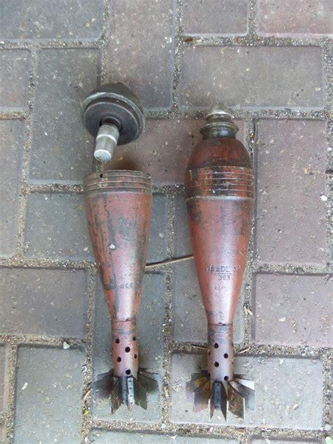 Mortar Diameter 8 Cm 2x german 8cm mortar bombs