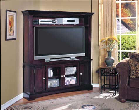Parker House Cherry Hill LCD Plasma TV Corner Wall Unit