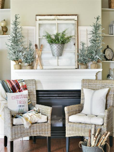 winter themed decor a winter inspired mantel at the picket fence