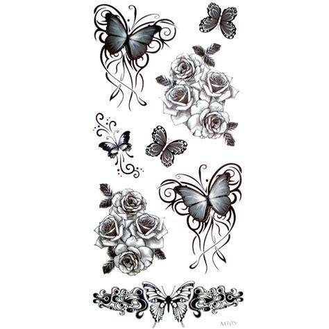 henna tattoo zwart 3pcs 3d black butterfly temporary for