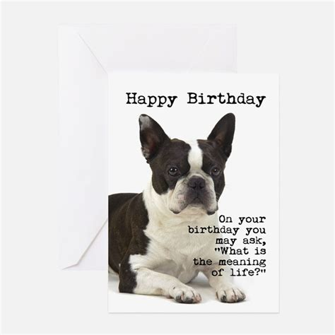 Boston Gift Card - boston terrier greeting cards card ideas sayings designs templates