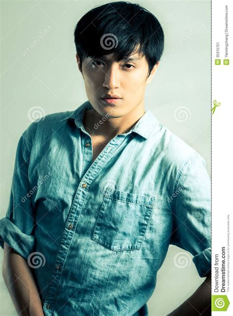 young tone fashion pose by male model stock image image 35315751