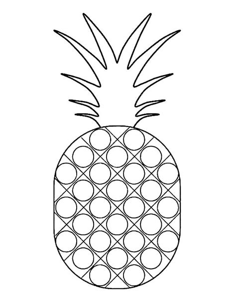 pineapple template pineapple fruit coloring page gianfreda net