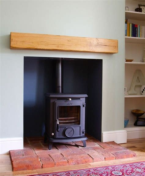 Brick Fireplaces For Wood Burning Stoves by Aga Wood Burning Stove Installed On Brick Hearth