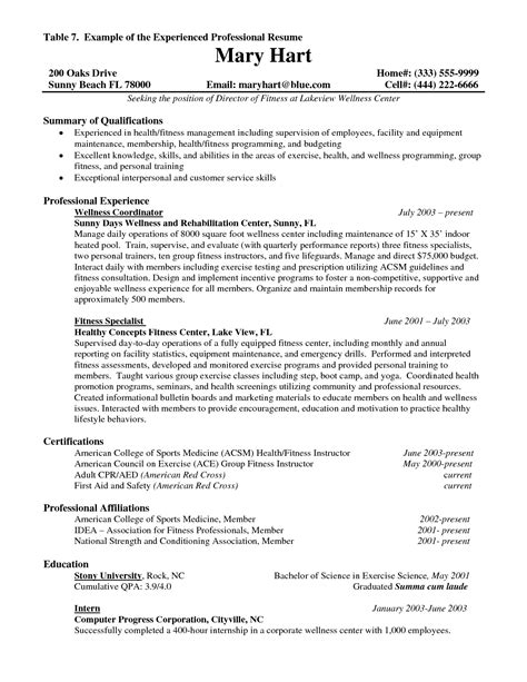 Resume Exles For Experienced Experience Resume Template Resume Builder