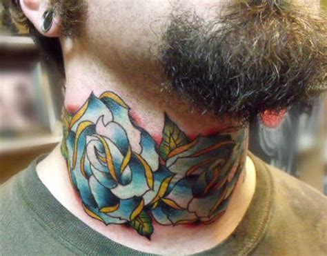 rose throat tattoo 57 realistic roses neck tattoos