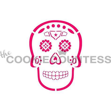 printable halloween stencils for cookies sugar skull cookie stencil halloween cookie stencil day