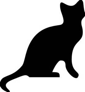cat silhouette clip at clker vector clip