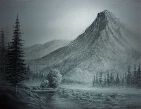 image gallery mountain landscape drawings