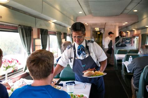 service attendant at work in a heritage dining car 2015